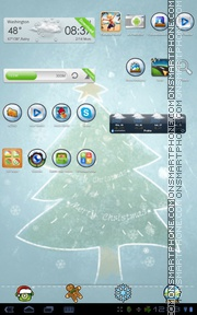 Snowman 08 tema screenshot