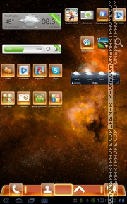 Orange Fusion tema screenshot
