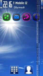 Sunny sky theme screenshot