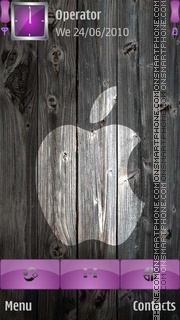 Black and White iphone tema screenshot