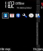 True Black (E-series) theme screenshot