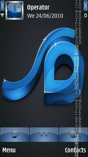 3D Blue Logo theme screenshot