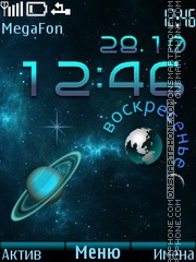 Space Clock theme screenshot
