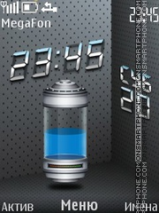 Blue Battery theme screenshot