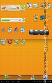 Alphabet theme screenshot