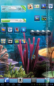 Coral Reef tema screenshot