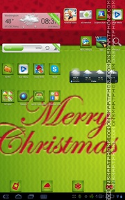 Christmas Card tema screenshot