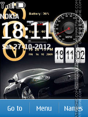 Auto Aston Martin Clocks tema screenshot