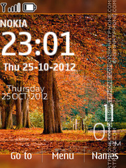 Autumn Tree Digital Theme-Screenshot