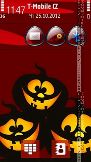 Amazing Halloween Night tema screenshot