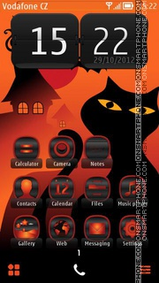 Halloween Cat 01 tema screenshot