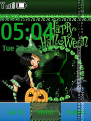 Halloween Clock 03 tema screenshot
