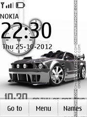 Mustang Car Clock tema screenshot