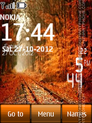 Скриншот темы Autumn Road Digital Clock