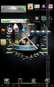 BlackMamba tema screenshot