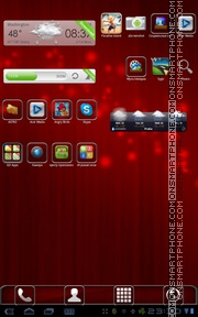 Red Chromeberry tema screenshot