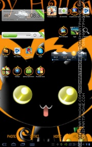 Halloween kitten tema screenshot