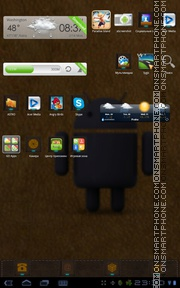 Leather Android Theme es el tema de pantalla