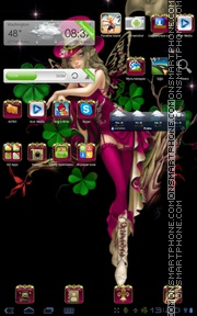 Lady Luck Angel theme screenshot