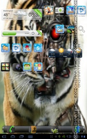 Tiger Bot theme screenshot