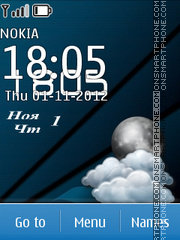 Скриншот темы Blue Clock