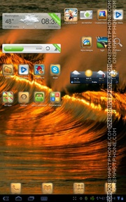 Golden Wave 01 theme screenshot