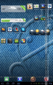 Blue Jeans Go theme screenshot
