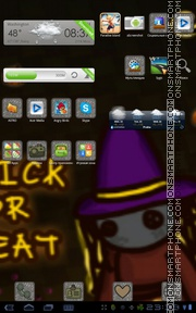 Trick or Treat es el tema de pantalla