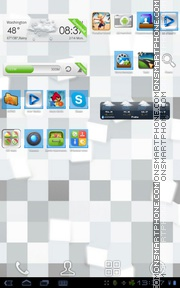 ICS Pro White Blue theme screenshot