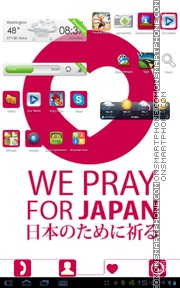 Pray For Japan theme screenshot