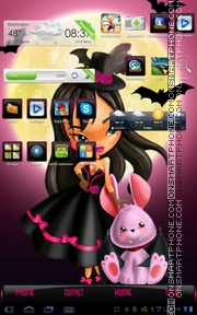 Cute halloween tema screenshot