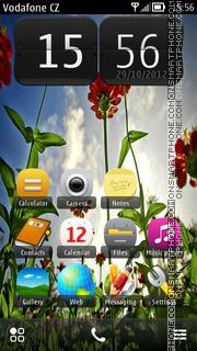 Wild Flowers 01 theme screenshot