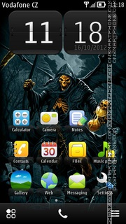 Golden Skull 01 theme screenshot