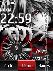 Скриншот темы Anime Dual Clock