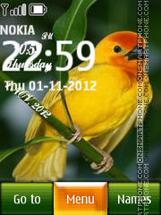 Yellow Canary Digital Clock theme screenshot