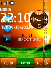Desktop Dual Clock es el tema de pantalla