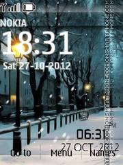Скриншот темы Winter Night Digital