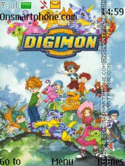 Digimon theme screenshot