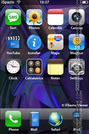 Скриншот темы Purple Abstract 02
