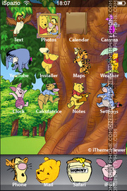 Pooh 13 theme screenshot