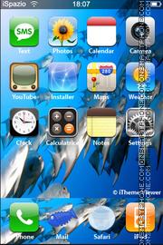 Ocean Blue theme screenshot