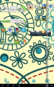 Retropatterns tema screenshot