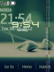 Headphone Clock es el tema de pantalla