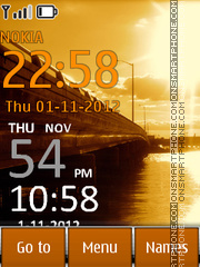 Bridge Clock 01 theme screenshot