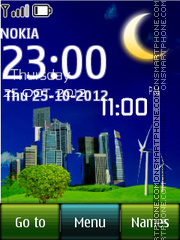 Modern Digital Clock theme screenshot