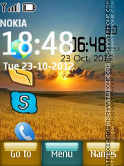 Sunset Digital Clock 02 theme screenshot
