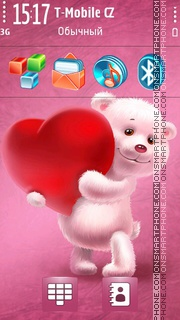 Lovely Teddy Bear es el tema de pantalla