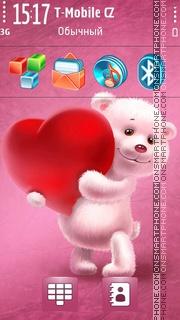 Lovely Teddy Bear tema screenshot