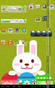 Easter Rabbit theme screenshot