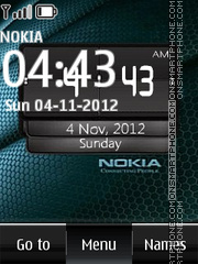 Black Nokia Digital Clock theme screenshot